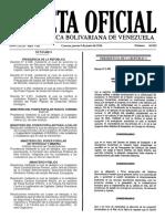 Gaceta Oficial N° 40.922 - Notilogía
