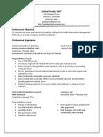 goldie prindle resume 2016