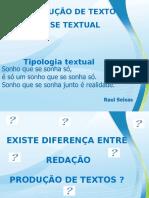 Tipologia Textual - Auxiliar Pessoal