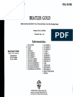 250679016 Beatles Gold Arr Paul Lavender SCORE PARTS