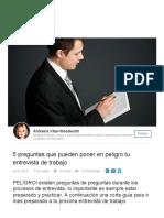 5 Preguntas Que Pueden Poner en Peligro Tu Entrevista de Trabajo _ Andreina Villar-Woodworth _ LinkedIn