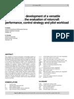 Pilot Model Rotocraft Evaluation