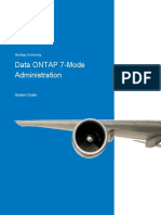 Data ONTAP 7-Mode Administration. StudentGuide