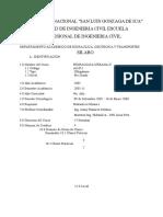 Syllabus Hidraulica Urbana II