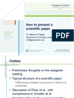 How to Present a Scientific Paper