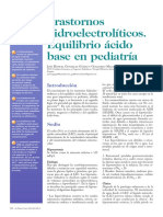 Trastornos Hidroelectrolíticos. Equilibrio Ácido Base en Pediatría