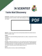 Kitchen Scientist Taste Bud Experiment