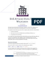 DOS Attacks Using SQL Wildcards