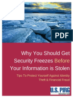 Why You Should Get Security Freezes Before Your Information is Stolen