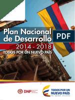 PLAN NACIONAL DE DESARROLLO 2014 - 2018