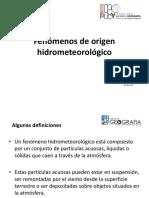 Fenómenos de Origen Hidrometeorológico