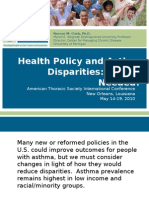 Health Policy and Asthma Disparities