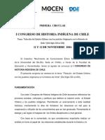 Circular de Información. I CONGRESO DE HISTORIA INDÍGENA DE CHILE