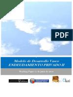 Modelo de Desarrollo Vasco. ENDEUDAMIENTO PRIVADO II