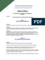 Ley Ordinaria de Ejercicio de La Profesión de Economista - Notilogía