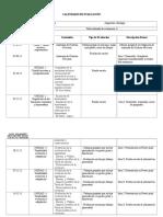 Calendario de Evaluación,3º Bio