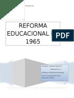 Reforma educacional del año  1965 en Chile