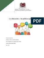 ponenciapoliticaspublicasEN EDUCACION lasTIC
