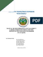 Manual de Seguridad en Los Talleres de Formación Del Instituto Tecnológico Superior Guayaquil