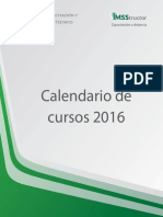 Calendario 2016 IMSS
