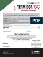 Termidor EPA Label