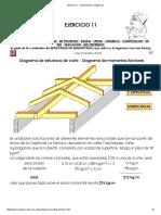 Ejercicio 11 - Solicitaciones y Diagramas