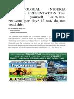 Aim Global Nigeria Business Presentation