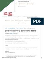 Estilo Directo y Estilo Indirecto _ Zona ELE