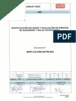 WGP-CO-HSE-00-PR-003 (Identificacion de Peligros y Evaluación de Riesgos) Rev 1
