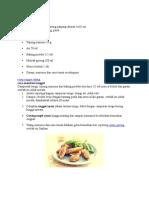 resep makanan ayam filet.doc