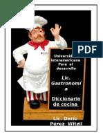 Diccionario Culinario de Cocina