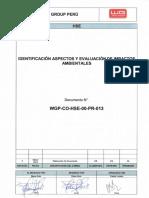 WGP-CO-HSE-00-PR-013 _Identificacion de Aspect Impac Ambientales_ Rev 0