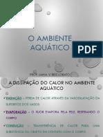 UNIDADE 1 e 2 - Apresentação Geral - O Ambiente Aquático