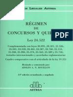 Rouillon, Alfredo - Regimen de Concursos y Quiebras