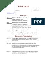 Curriculum Vita 2016-2017 UPDATED