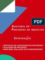 Modelagem de Processos de Negócios - Auditoria de processos