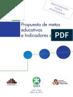 Propuesta Metas Educativas Indicadores 2021