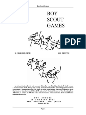Boy Scouts Games-lpv | Scouting | Youth Organizations