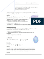 Cylindrical and Quadric Surface