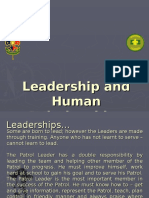 Leadership and Human Relationships - The Patrol Leader's Job
