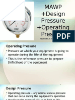 What is MAWP? Difference between MAWP , Design Pressure and Operating Pressure