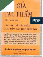 Tác Giả Tác Phẩm (NXB Sông Kiên 1973) - Trần Tuấn Kiệt, 223 Trang