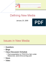 Defining New Media10