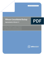 VMware Consolidated Backup - Improvements in Version 3.5