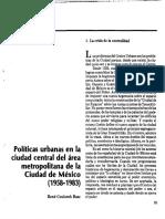 09 Politicas Urbanas en La Ciudad Central Del Area Metropolitana