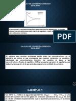 CONCENTRACIONES EN QUILIBRIO QUIMICA II