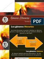 LITERATURA - GENEROS LITERARIOS