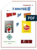 Swot Analysis b/w Lipton and Tapal