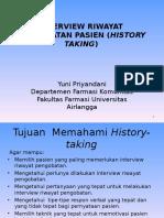 History Taking Farmasi