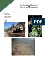 Ecological Basis for Ecosystem Management